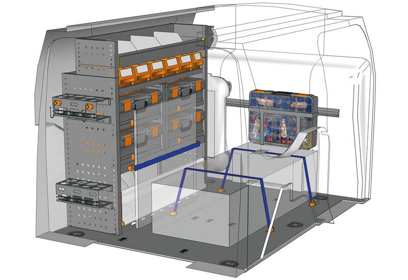 Fahrzeugeinrichtungen Ford Connect Mobile CN L1H1 M1