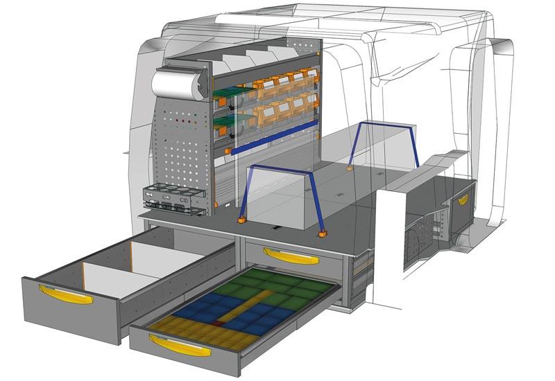 Fahrzeugeinrichtungen Citroën Berlingo soluzione Floor up PA L1H1 F1 altezza 250 mm