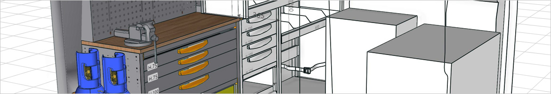 3D-Produktkonfigurator für Fahrzeugeinrichtungen