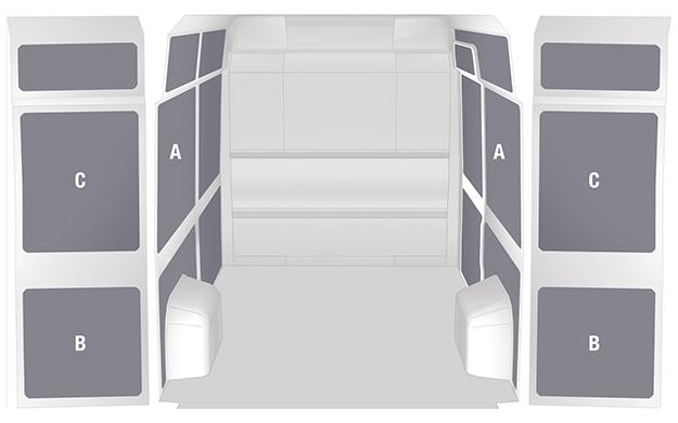 Seitenverkleidungen für den Citroën Jumper Honeycomb