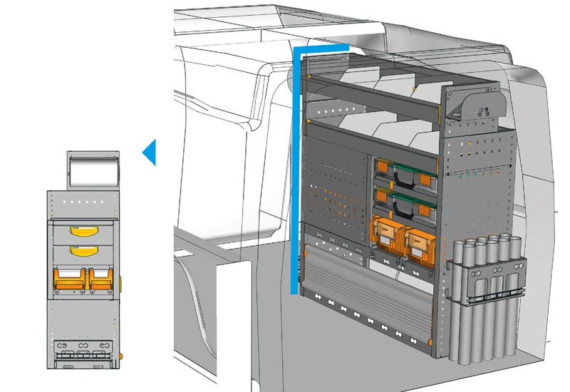Fahrzeugeinrichtungen furgone Oepl Partner PA 1011 03