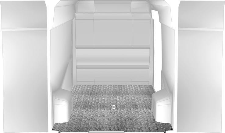 Bodenplatte Crafter - Aluminium